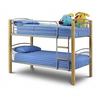 bunk bed sales with mattresses 2