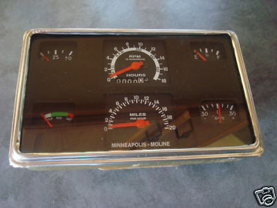 Minneapolis Moline Tractor Gauge Panel-335445 And More