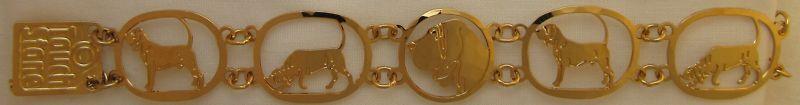 Bloodhound Jewelry Gold Bracelet by Touchstone