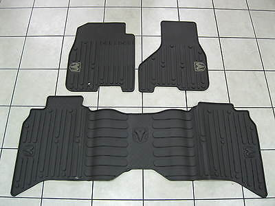 2011 2012 Dodge Ram 1500 2500 3500 Slush Mats Slate Crew Cab Mopar Set Of 3 Oem