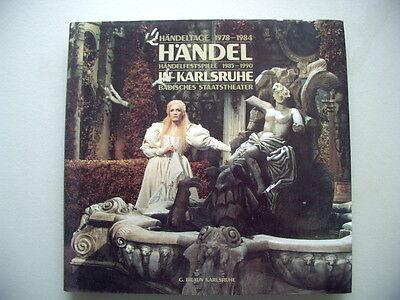 Händeltage 1978-84 Händel Händelfestspiele in Karlsruhe Badisches Staatstheater