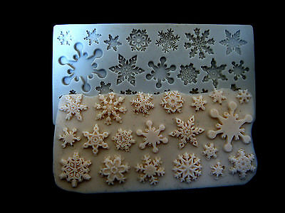 Christmas #9, Silicone Mold Chocolate Polymer Clay Jewelry Soap Melting Wax