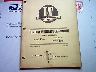 Oliver 2255 Minneapolis-moline G955 G1355 Vintage Tractor It Service Manual
