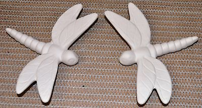 Ceramic Bisque Dragonfly Small Wall Mount Set Cardinal Design Mold 761 U-Paint
