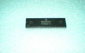 (LOT of 3) Vintage Motorola MC6800P Microprocessor