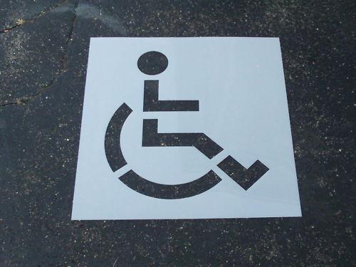 """Handi-Cap Parking Lot Stencil (1) Piece 48"""" ReUsable HUGE Edges Flexible"""