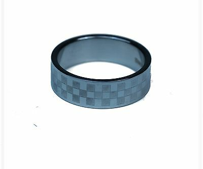 CHECKERED FLAG STAINLESS STEEL RINGS, POLISHED AND BRUSHED DESIGN](Checkered Flag Ring)