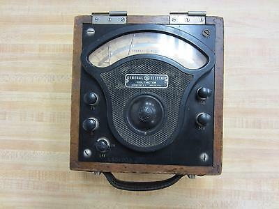 General Electric 3503992 Antique Volt Meter Vintage Industrial 39072
