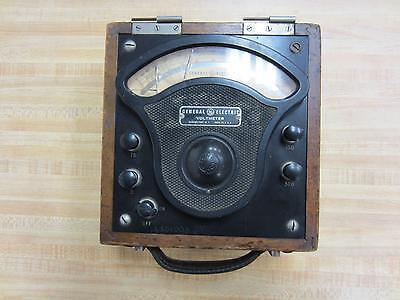 General Electric 3503992 Antique Volt Meter Vintage Industrial 39072