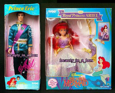 Royal Princess Ariel Doll Prince Eric Royal Attire Little Mermaid Tyco Disney VG
