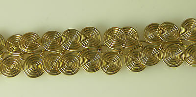 "ARTISAN WIRE WRAPPED EGYPTIAN COIL GOLD FILLED WIRE BRACELET 6"" / 18 cm"
