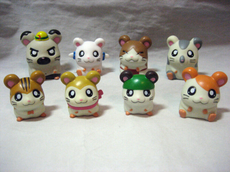 NEW lot JP AUTHENTIC HAMTARO HAMSTER Anime FIGURES finger Puppet,PENCIL TOPPER