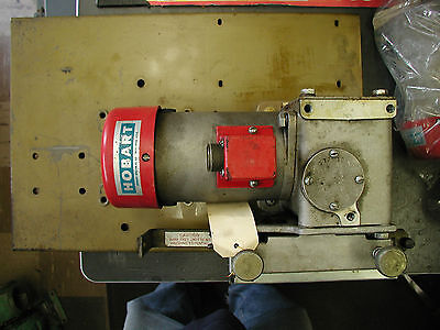 Hobart Wire Feed Motor And Gearbox Mounted On Plate