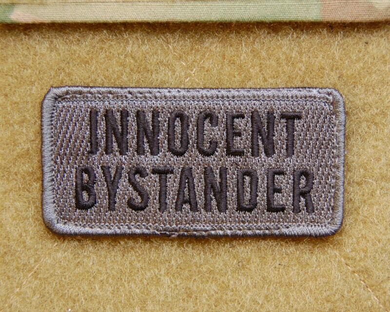 INNOCENT BYSTANDER US Army MilSpec ACU UCP Embroidered UniformPatch Hook Backing