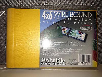 PRINT FILE, 4x6 Concealed Wire Bound Album, Yellow Lizard - WBC46-2P-YEL