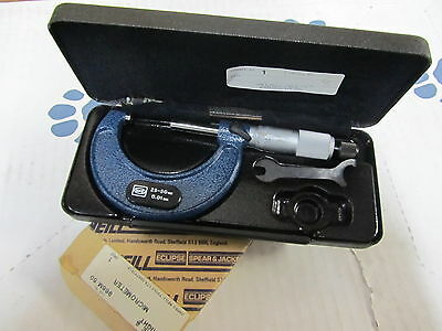 Mw Moore And Wright 966m50 Outside Micrometer 25-50mm Metric 0.01mm England
