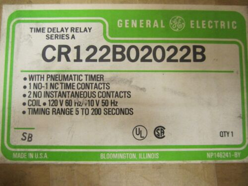 General Electric CR122B02022B Time Delay Relay