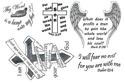Tattoo Verse (Bible Verse Temporary Tattoos)