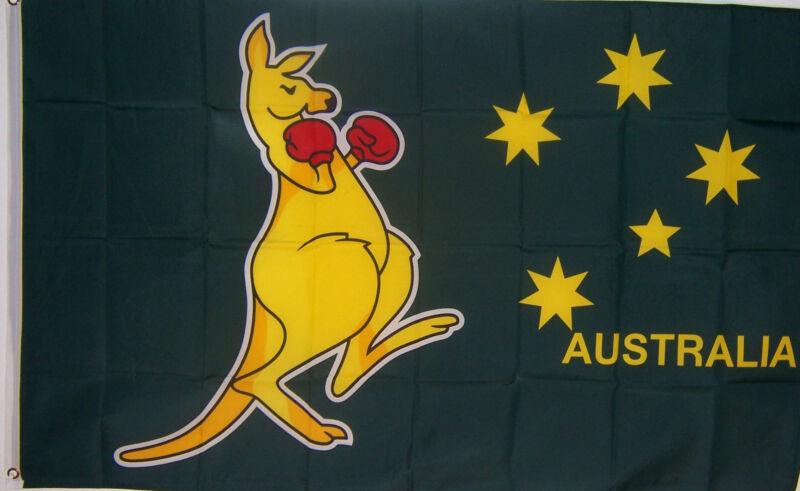NEW 3ftx5 BOXING KANGAROO AUSTRALIA AUSTRALIAN FLAG better quality usa seller