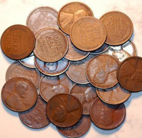 25 Diff. Lincoln Cents from 1909 to 1939-S in GOOD-FINE+! 09,12,16D,32,32D,33