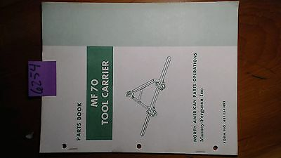 Massey Ferguson Mf 70 Tool Carrier Parts Book Manual 651 134 M92 181
