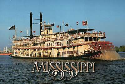 Natchez, Mississippi Riverboat, Paddle Wheel, Steamboat --- Ship Postcard