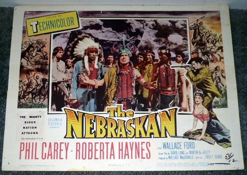 THE NEBRASKAN Original 1953 lobby card JAY SILVERHEELS 11x14 movie poster