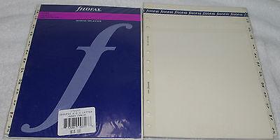 2 Pc Filofax Deskfax Index Cream A-z Two Letter Refill Insert Organizer Agenda