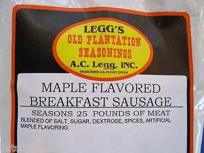 MAPLE Breakfast Pan Sausage Seasoning Spices for 25 lbs Venison Pork Deer etc