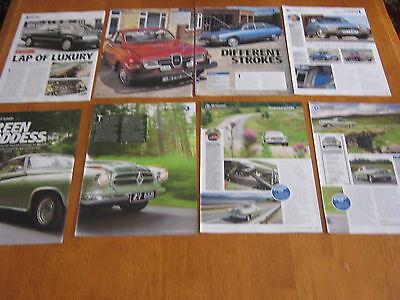 Rover 800, Saab 96, Citroen GS, Borgward Isabella articles