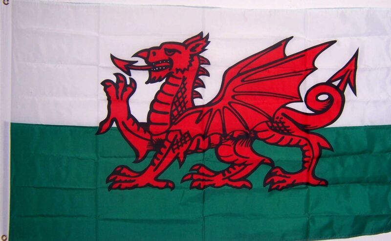 WALES WELSH UNITED KINGDOM  DRAGON FLAG  NEW 3x5ft better quality usa seller