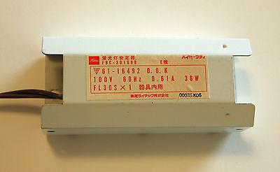 Used Ballast Fl30sx1 1x36w 100v 60hz 0.61a Fbc-30168b Toshiba Komori