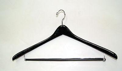 19.5 Black Wooden Suit Hanger Lot Of 50 Nib Wolfsmarine12050