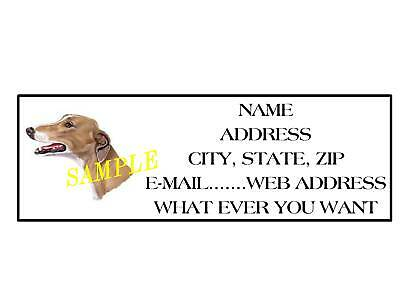 GREYHOUND ADDRESS LABELS COOL!!! #1 - Cool Labels