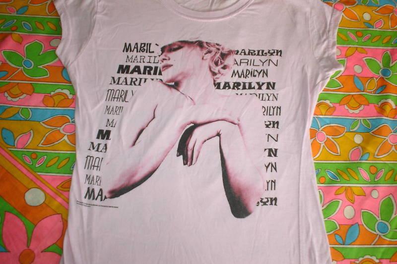 MARILYN MONROE LADIES T SHIRT MED GREAT MARILYN SHIRT