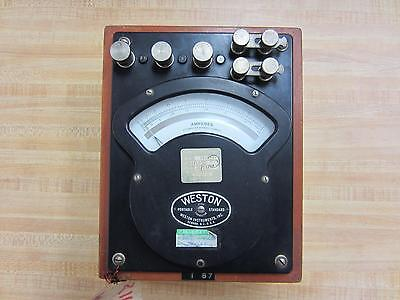 Weston 15458 Antique Amp Meter 370 Vintage Industrial 39084