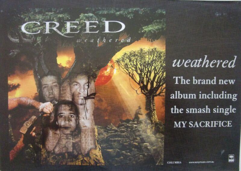 "CREED ""WEATHERED"" AUSTRALIAN PROMO POSTER- Hard Rock, Post-Grunge Music"
