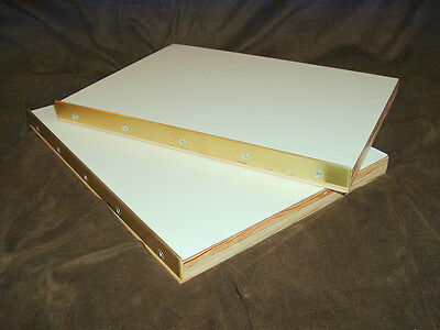 Brass Edged Press Book Boards For Bookbinding Pressboards Binding Repair....2844