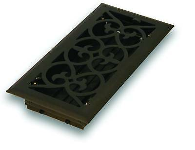 Steel Flat Black Victorian Floor Register - 4