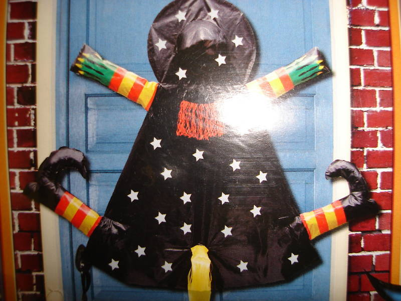 Large Crashing Witch 3-D Door/Wall Crashed Yard Halloween NEW decoration party
