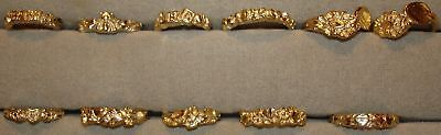 12 - 18KT. Gold Overlay Finish Diamond Cut Baby Rings ~ Sizes ½ to 3 ~ 1980's ~ Gold Overlay Finish