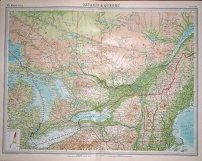 1920 LARGE MAP ~ ONTARIO & QUEBEC ~ 23