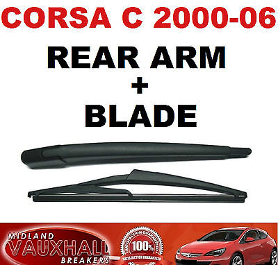VAUXHALL CORSA C 2000/06 NEW REAR BACK WIPER ARM WITH BLADE CDTI SXI SRI LIFE