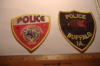 ~BUFFALO & STRAWBERRY POINT~IOWA  POLICE PATCHES~
