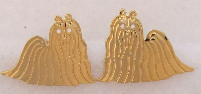 Maltese Jewelry Gold Post Earrings