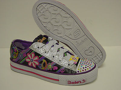 7f8801a546652 NEW Infant Sz 5 C SKECHERS Twinkle Toes GROOVY BABY Light Up Sneakers Shoes