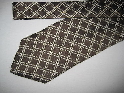 Mens Brown Silk Print Tie Necktie Guess (3311)  Guess Print Tie