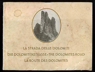LA STRADA DELLE DOLOMITI ALBUM FOTGRAFICO AMONN FILIBERT BOLZANO ANNI '20