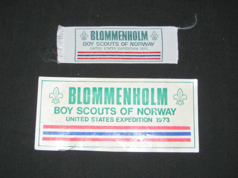 Blommenholm 1972, Boy Scouts of Norway, US Expedition Sticker and Patch      lpw