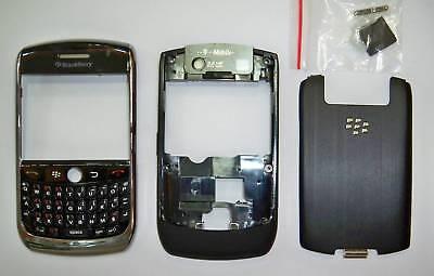 Black Blackberry Faceplates - Full new Black Fascia Housing faceplate Cover facia case for Blackberry 8900